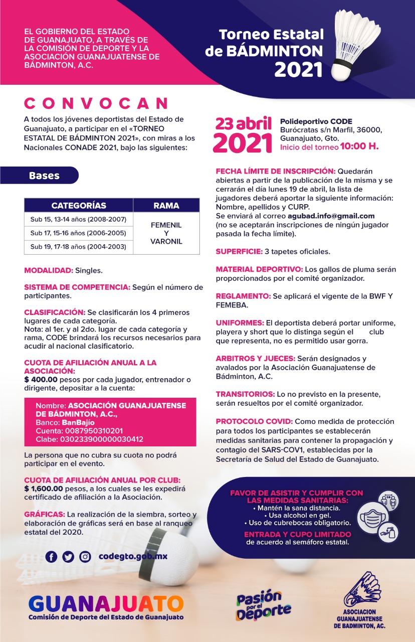 convo badminton 2021